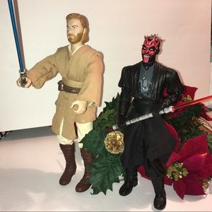 Star Wars Obi Won and Darth Maul Figure Set
